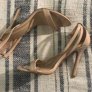 Nude thin strap heels